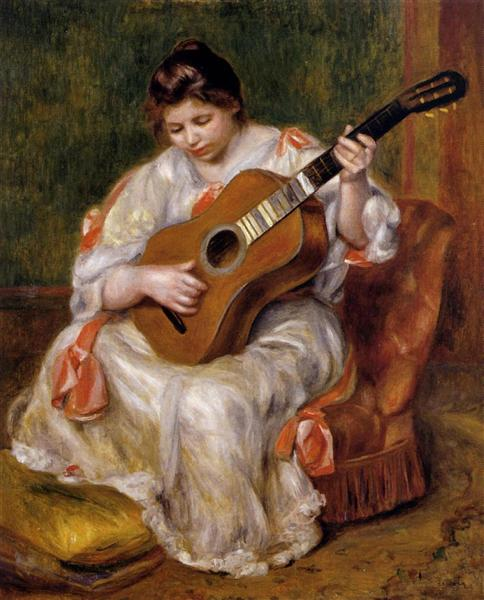 Woman Playing the Guitar, 1896 - Pierre-Auguste Renoir