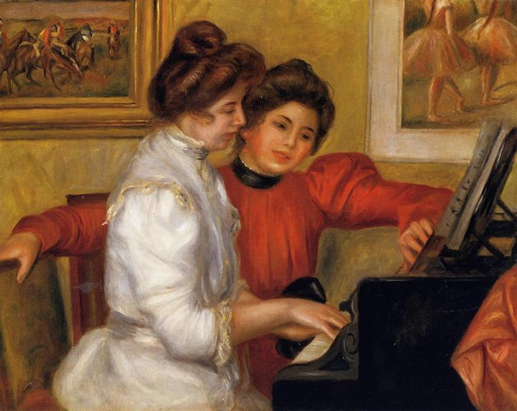 Young Girls at the Piano, 1892 - Pierre-Auguste Renoir