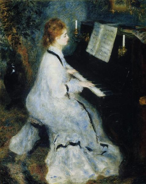 Young Woman at the Piano, 1876 - Pierre-Auguste Renoir