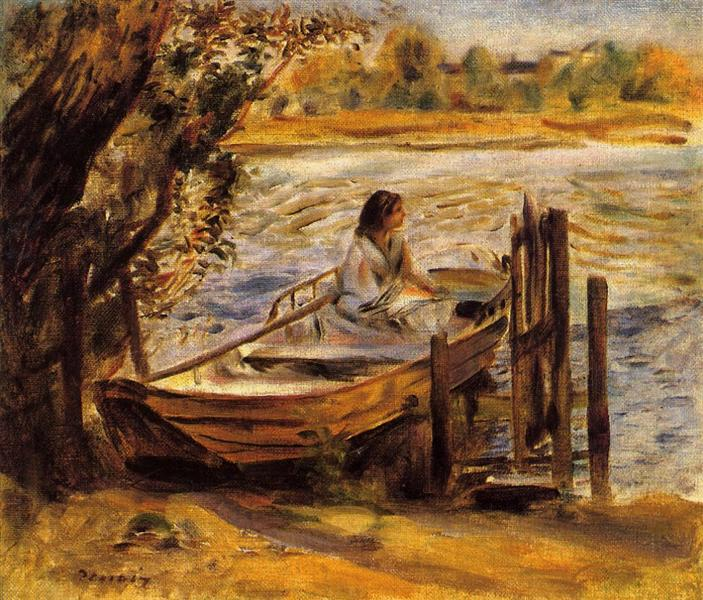 Young Woman in a Boat (Lise Trehot), 1870 - Pierre-Auguste Renoir
