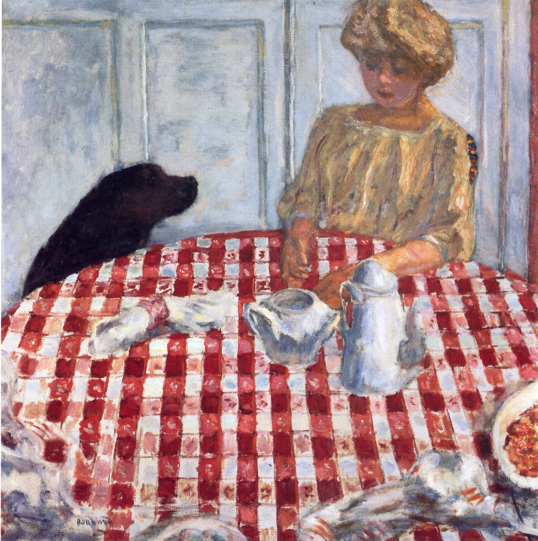 The Red Checkered Tablecloth Pierre Bonnard Wikiart Org