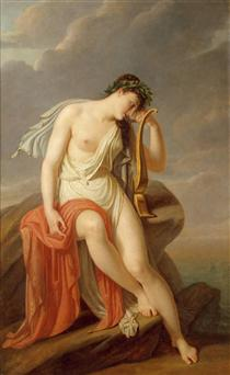 Sappho on the Leucadian Cliff - Pierre Narcisse Guérin