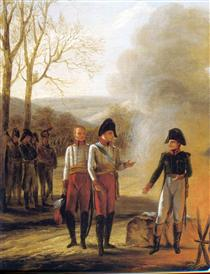The conversation of Napoleon and Francois II - Pierre Paul Prud'hon