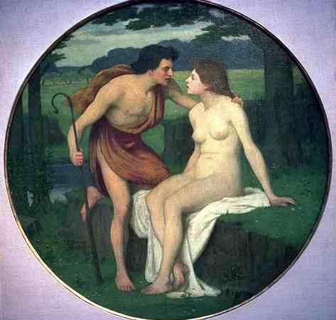 Daphnis and Chloe, c.1875 - c.1890 - Pierre Puvis de Chavannes