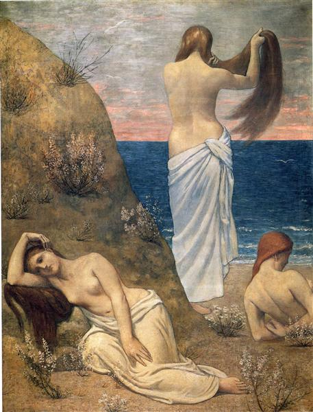 Young Girls on the Edge of the Sea, 1879 - Pierre Puvis de Chavannes