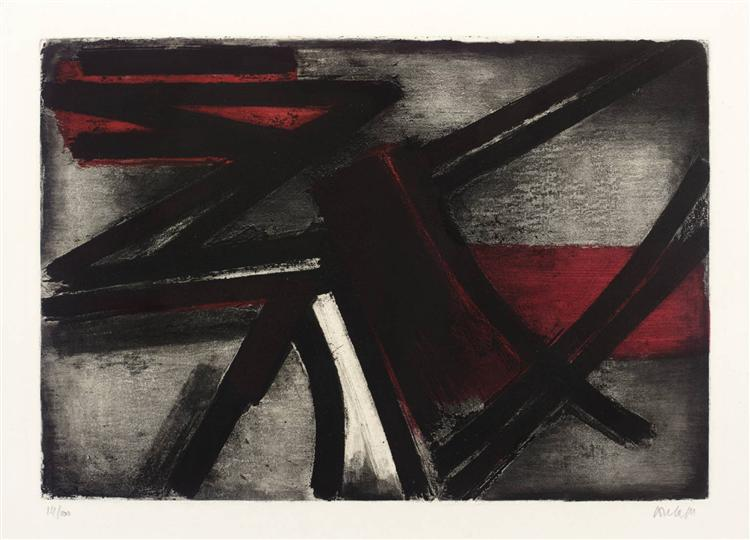 Etching No. 2, 1952 - Pierre Soulages