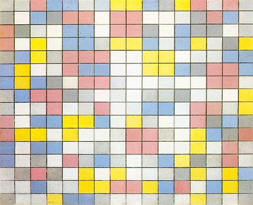 Composition with Grid IX - Piet Mondrian