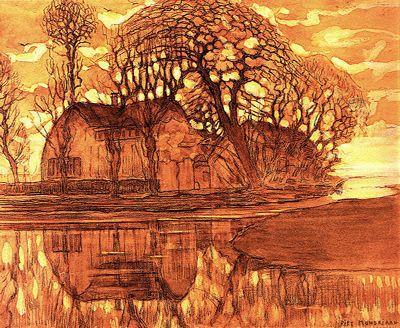 Farm at Duivendrecht, 1908 - Piet Mondrian