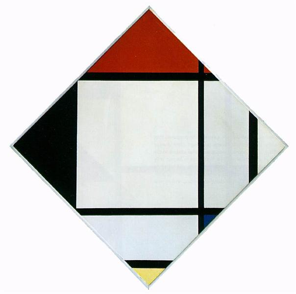 Lozenge Composition with Red, Black,Blue and Yellow, 1925 - Piet Mondrian