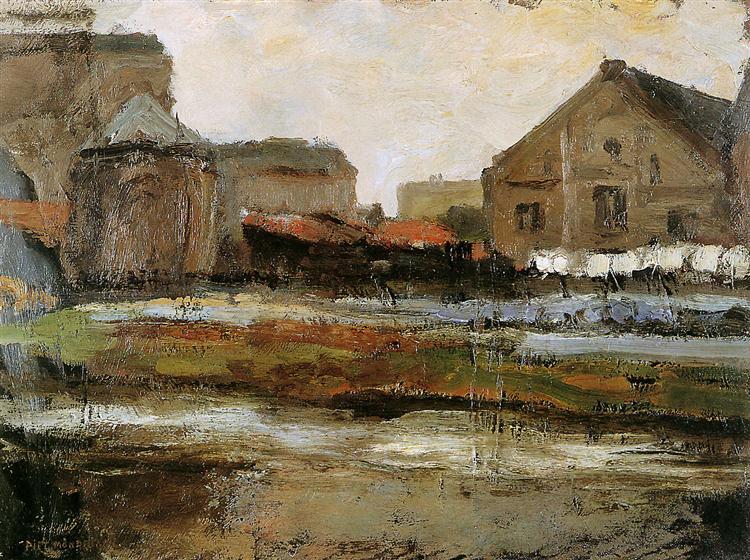 Schinkelbuurtje Sun, 1899 - Piet Mondrian