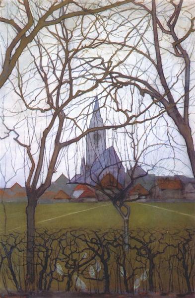 Village Church, 1898 - Piet Mondrian