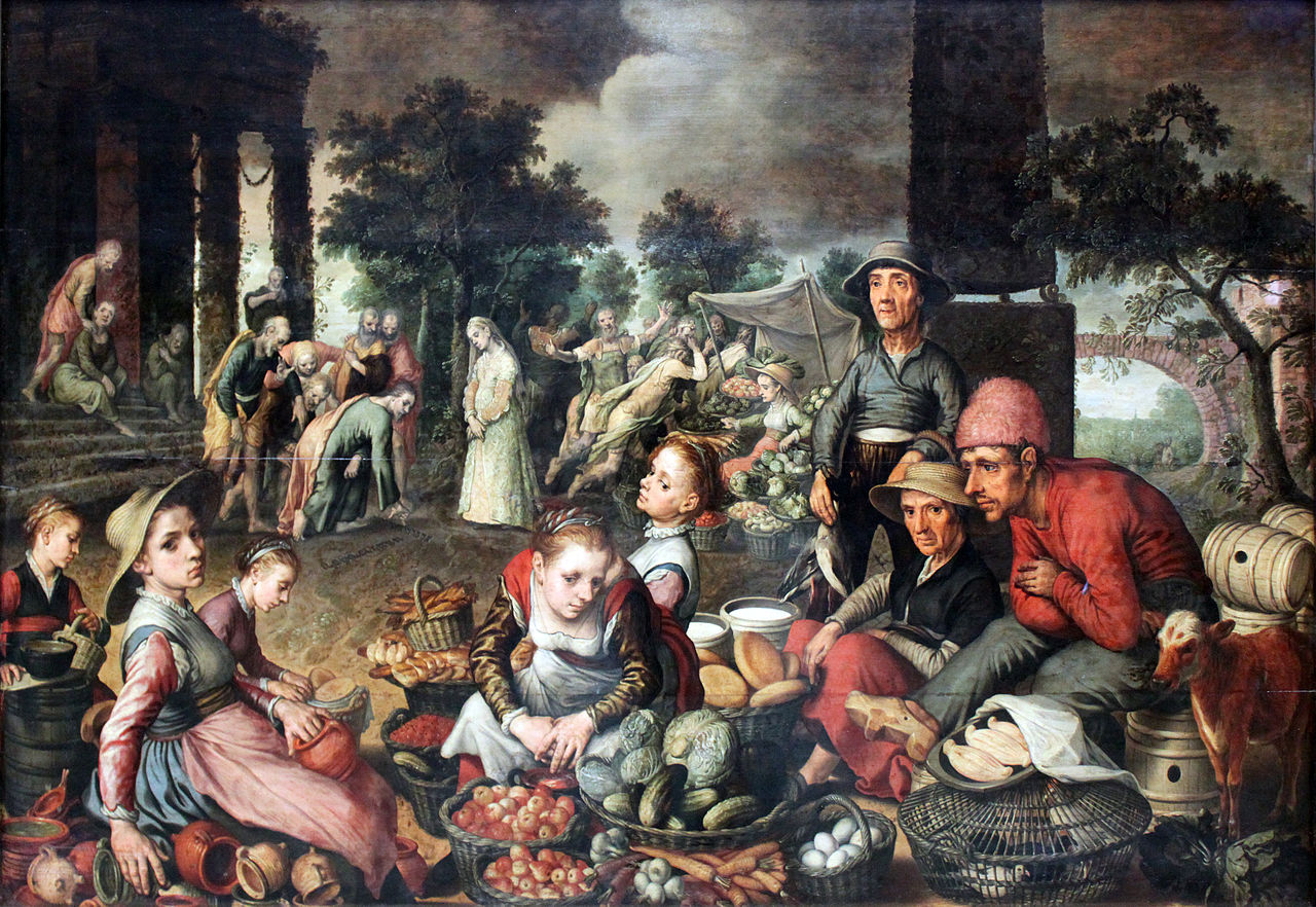 Market with Christ and the Woman Taken in Adultery, 1559
