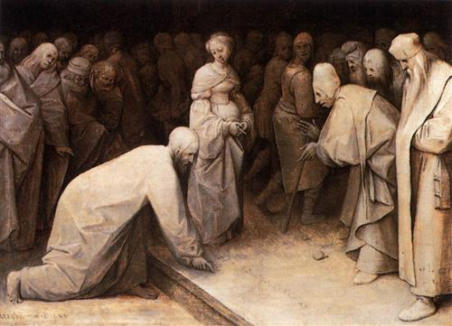 Christ and the Woman taken in Adultery - Pieter Bruegel the Elder