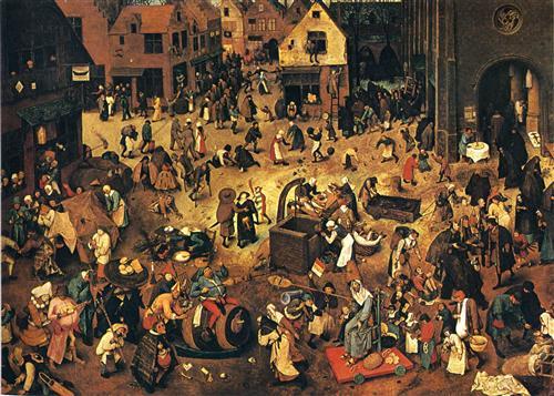 The Fight between Carnival and Lent - Pieter Bruegel the Elder