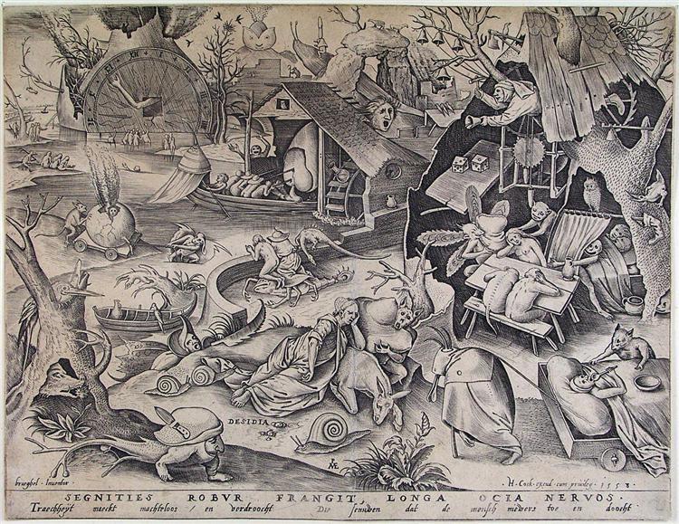 Laziness, c.1556 - c.1560 - Pieter Bruegel the Elder