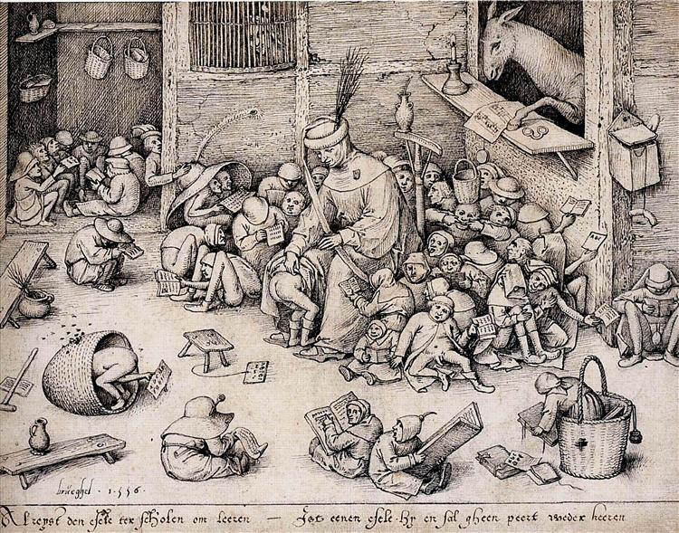 The Ass in the School, 1556 - Pieter Bruegel the Elder