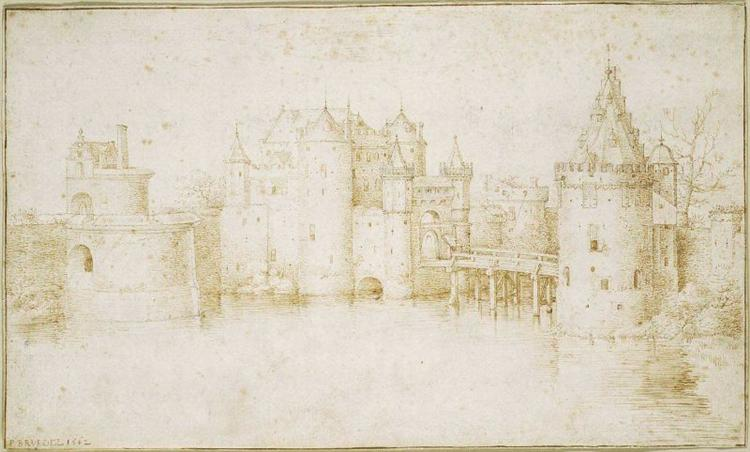 Walls Towers and Gates of Amsterdam - Pieter Bruegel the Elder