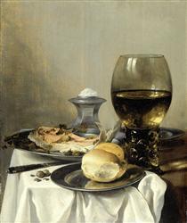 Still Life with Salt Tub - Pieter Claesz
