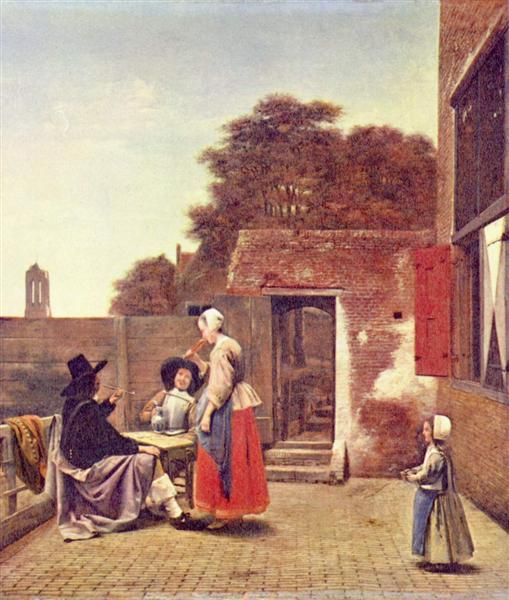 A Dutch Courtyard, c.1658 - Pieter de Hooch