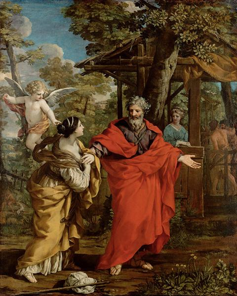 Return of Hagar, 1637 - Pietro da Cortona