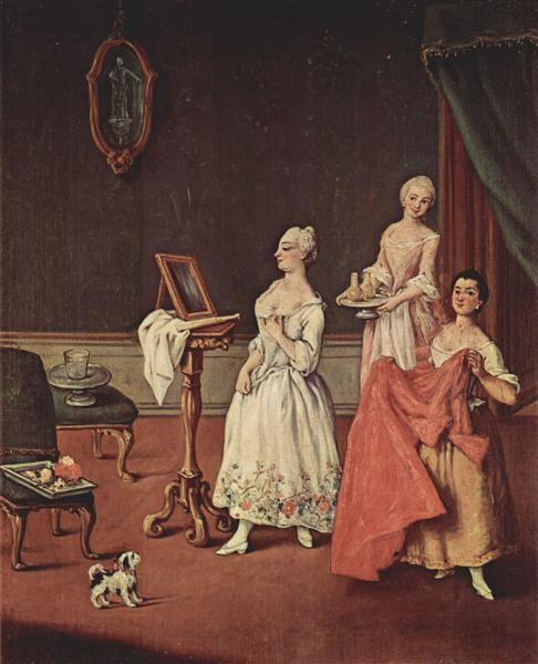 Lady at her Toilette - Pietro Longhi