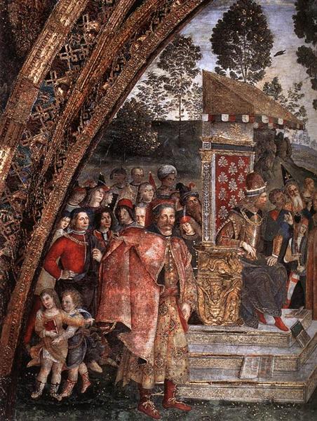 St Catherine's Disputation (detail), 1491 - Pinturicchio