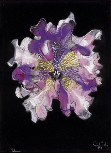 Purple Flower, 1974 - Piroska Szanto