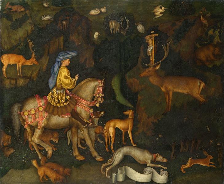 The Vision of Saint Eustace, 1438 - Пизанелло