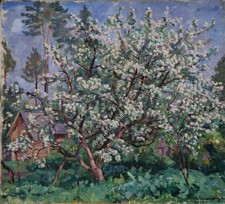 Apple tree in bloom, 1937