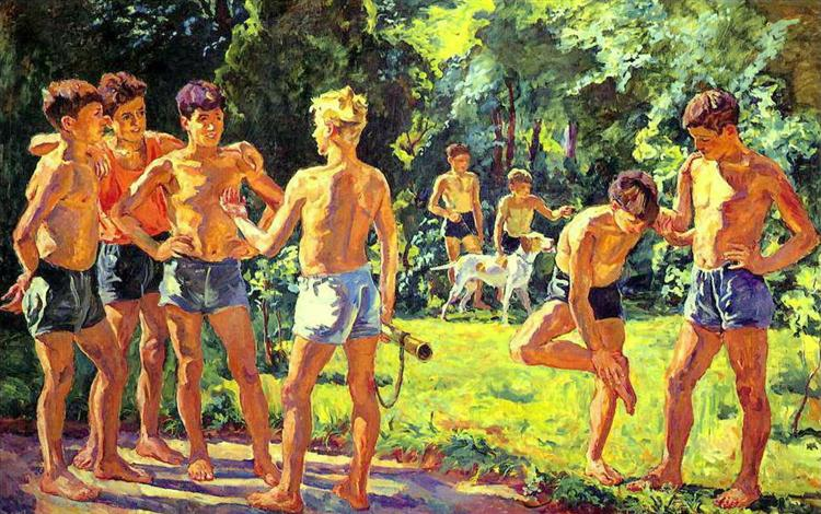 At summer - Pyotr Konchalovsky