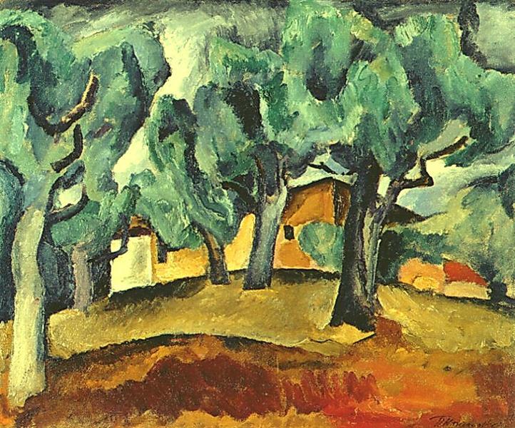 Landscape, 1912 - Pyotr Konchalovsky