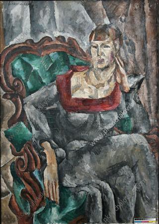 Portrait of actress Vizarova, 1917 - Pyotr Konchalovsky