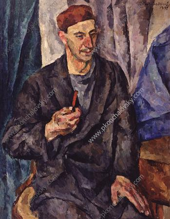 Портрет художника Германа Васильевича Федорова, 1919 - Пётр Кончаловский