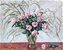 Roses and asparagus - Pjotr Petrowitsch Kontschalowski