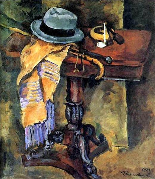Still Life. Table with a hat., 1929 - Pyotr Konchalovsky