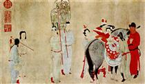 Yang Guifei Mounting a Horse - Qian Xuan