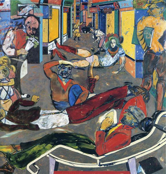 Cecil Ct London WC2 (The Refugees) - Ron Kitaj