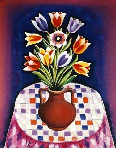 Still life with Flowers, 1967 - Radi Nedelchev
