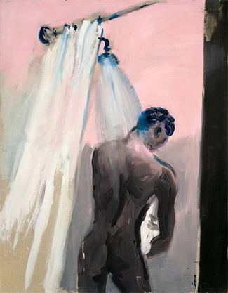Mann in Dusche, 1980 - Rainer Fetting