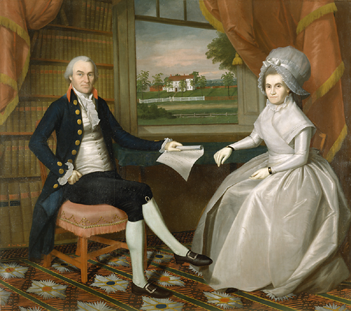 Oliver and Abigail Wolcott Ellsworth, 1801 - Ralph Earl