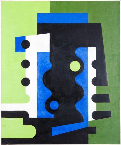 Verde Azul y Negro, 1958 - Eduardo Ramírez Villamizar