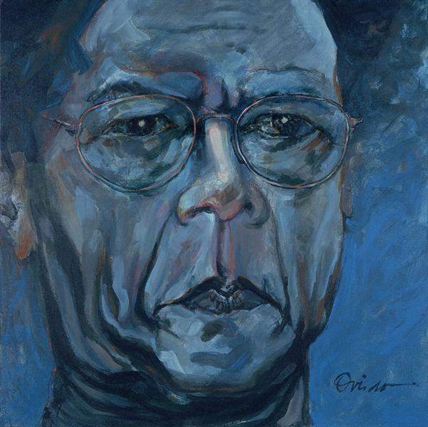 Auto retrato en azul  (self portrait in blue), 1999 - Ramon Oviedo