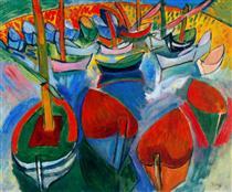 Boats at Martigues - Raoul Dufy
