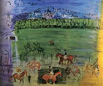 The Racecourse  of Deauville - Raoul Dufy