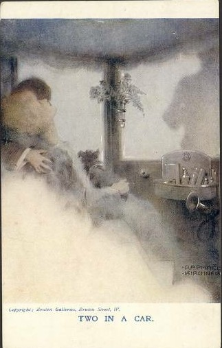 Two in a Car, 1916 - Raphael Kirchner