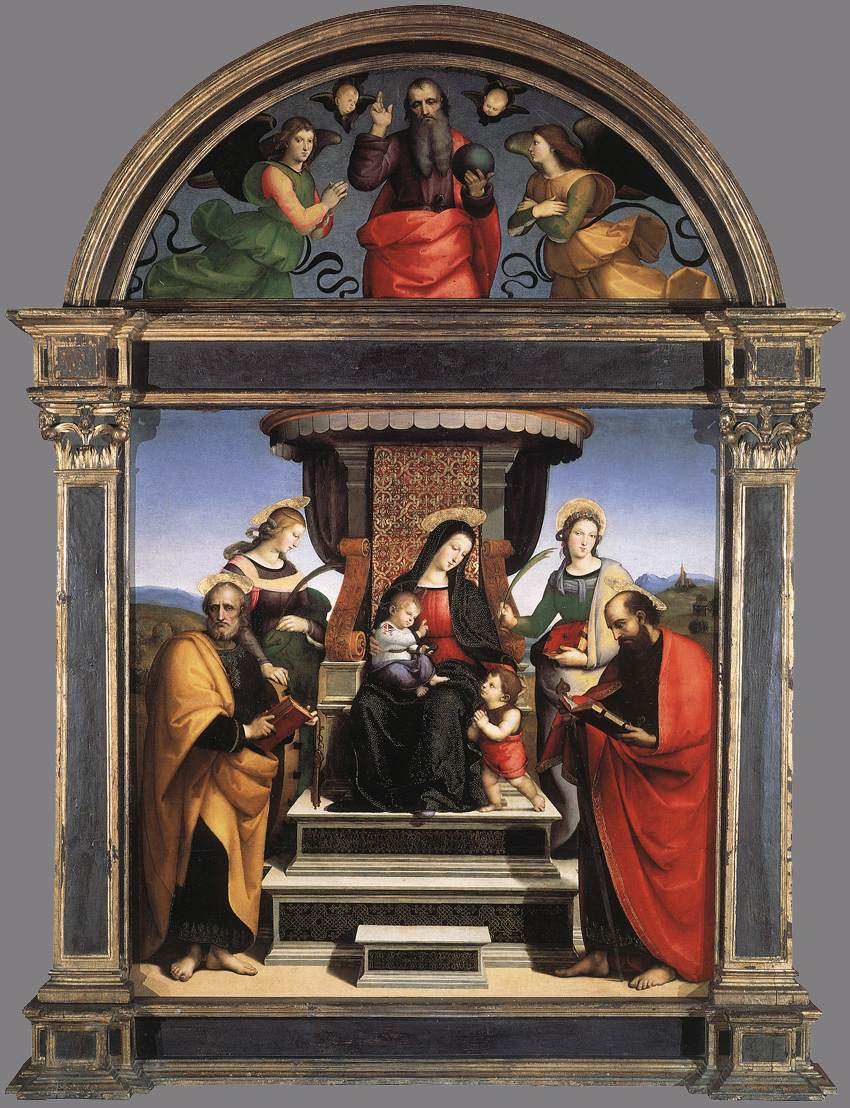 Madonna and Child Enthroned with Saints, 1504-1505