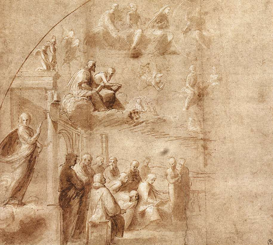 Study for the Disputa, 1509