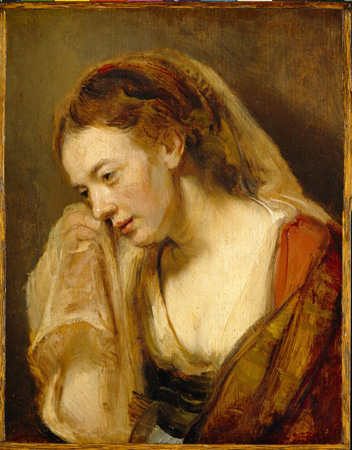 a woman weeping rembrandt wikiartorg encyclopedia
