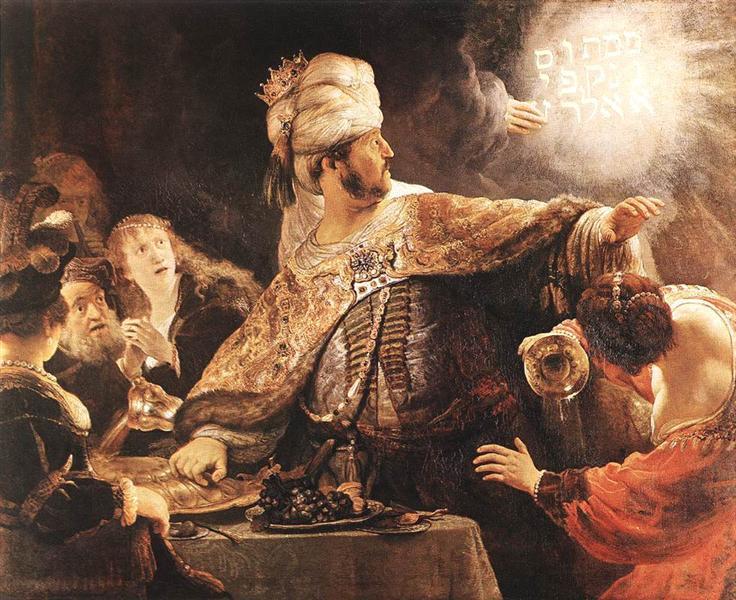 Belshazzar's Feast, 1635 - Rembrandt