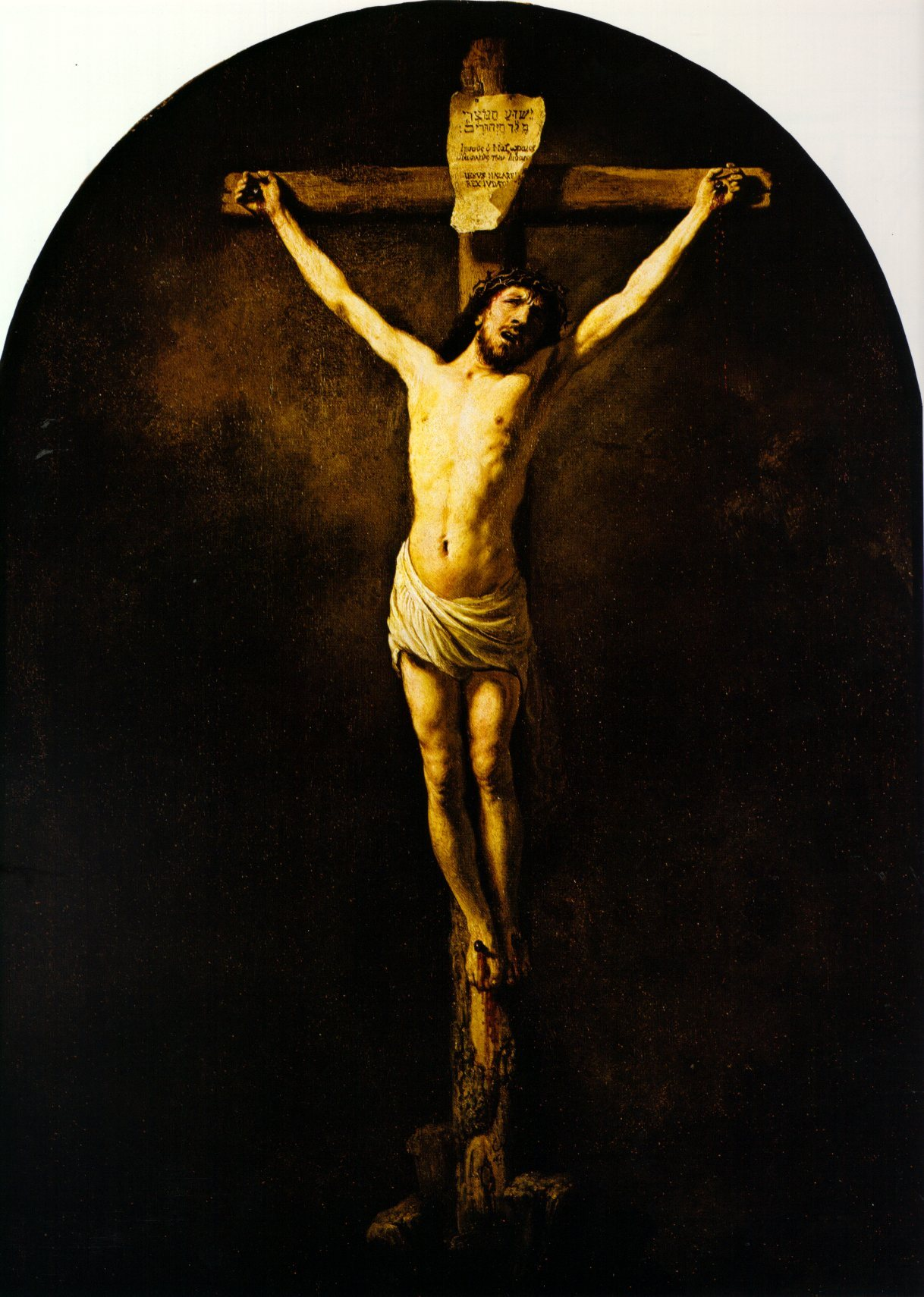 christ on the cross 1631 rembrandt wikiart org